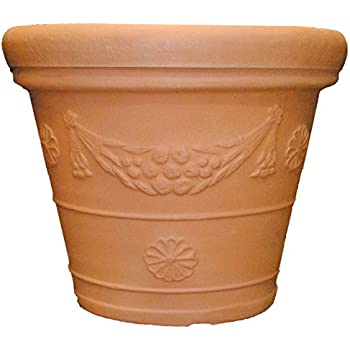 Tusco Products GP31WTC Garland Planter, 31-Inch Diameter, Washed Terra Cotta