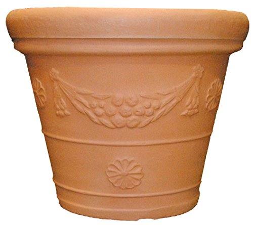 Tusco GP31WTC Garland Planter, 31-Inch Diameter, Washed T...