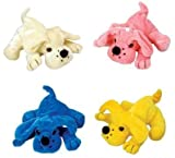Plush Dog 12 Pack Assorted Colors 6'' (Inch)