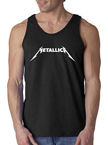 New Way 925 - Men's Tank-Top Metallica Metal Rock Band Logo XL Black