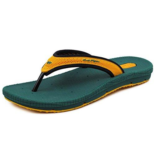 Gouden Duifschoenen Gp5842 Heren Dames Lichtgewicht Hoogbounce Comfort Outdoor Water Flip Flops Oranje Groen