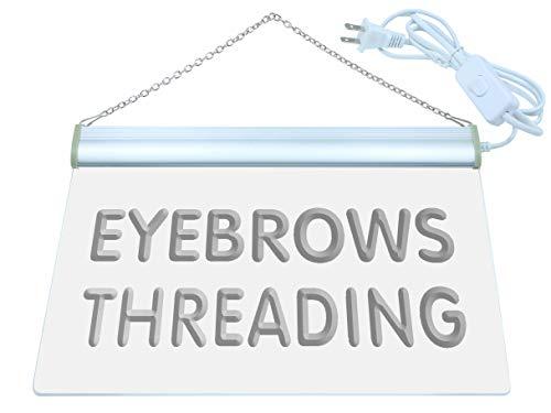 ADV PRO Eyebrows Threading Beauty Salon LED Neon Sign Green 16'' x 12'' st4s43-j665-g by ADV PRO