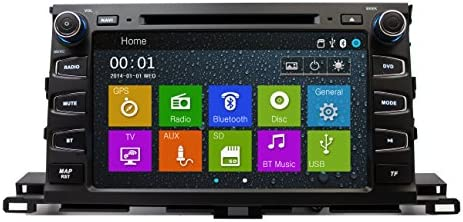 Touchscreen GPS Navigation Bluetooth Multimedia Radio for 2014-2017 Toyota Highlander 2015 2016