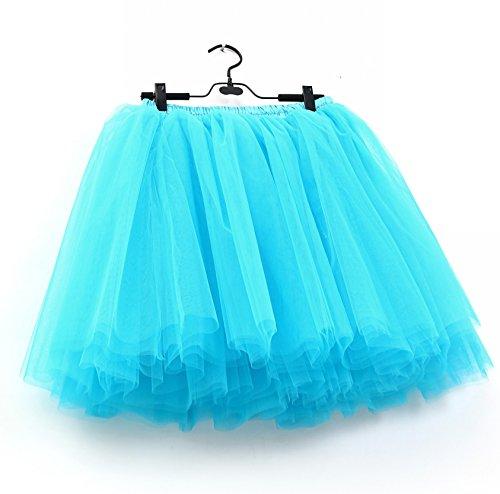 SCFL falda del ballet de la enagua del enaguas de la falda medio Azul