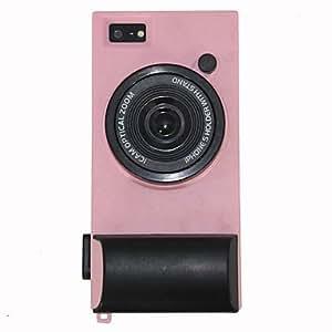 TY-Nueva caja dura forma de la cámara para el iphone 5/5s , Rosado