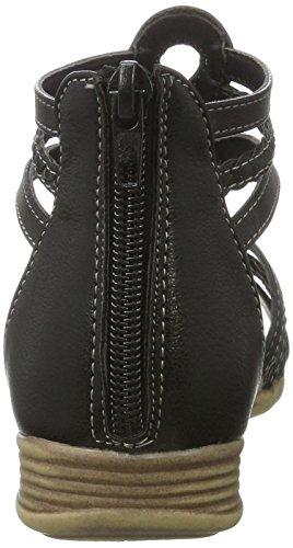 Indigo 482 252 - Sandalias de Gladiador Niñas Schwarz (Black)