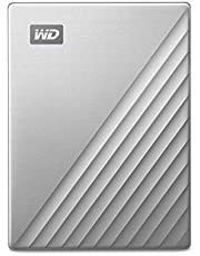 WD 4TB My Passport Ultra for Mac Silver Portable External Hard Drive, USB-C - WDBPMV0040BSL-WESN