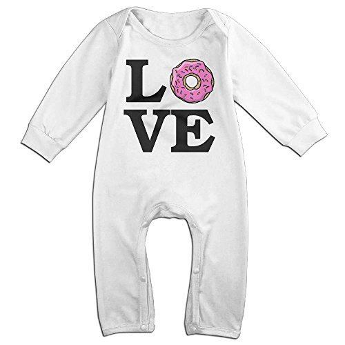 Newborn Baby Love Donuts Long Sleeve Romper Jumpsuit 24 Months (Cola Bear Costume)