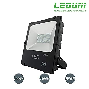 LEDUNI Foco Proyector Floodlight LED Exterior 100W Chips OSRAM ...