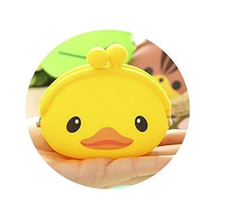 ivebetter Cute Creative silicona pato efectivo bolsa ...