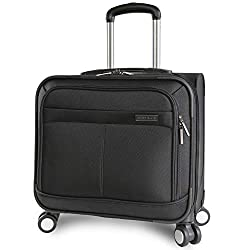 This Perry Ellis spinning business laptop briefcase is all you need for those overnight business trips. With a large main compartment for a 13.5' laptop and overnight clothing, you'll be able to travel with ease. A retractable handle and 8-wheel spin...