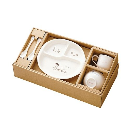 Shinshu-yaki Nakayoshi tableware set by Shinshu-Yaki