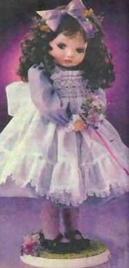 Shy Violet - Collectable Vintage 1991 Porcelain Doll shy Violet designed by Kay McKee