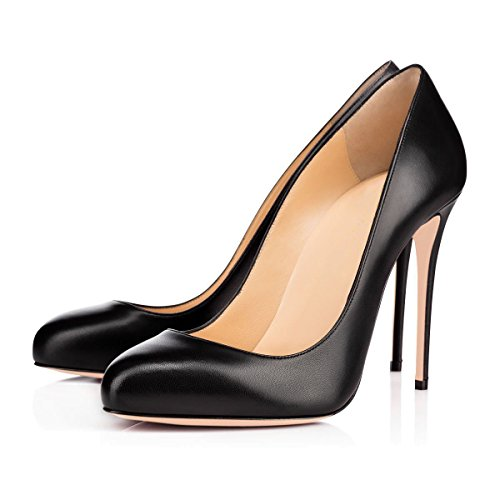 Customized Heel Party Black Women Emiki Extreme Thin Court Shoes Round Wedding Evening Shoes Pumps High Big Toe Stilettos Heels Pu Size xBPwqUx