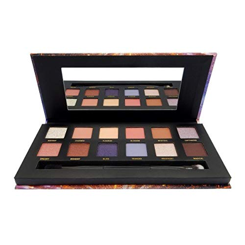W7 Enchanted Brilliance In Bloom 12 Colour Eye Shadow Palette Pressed Pigment Palette