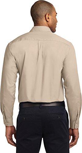 Port Authority - Camiseta de manga larga - para hombre Stone/ Stone