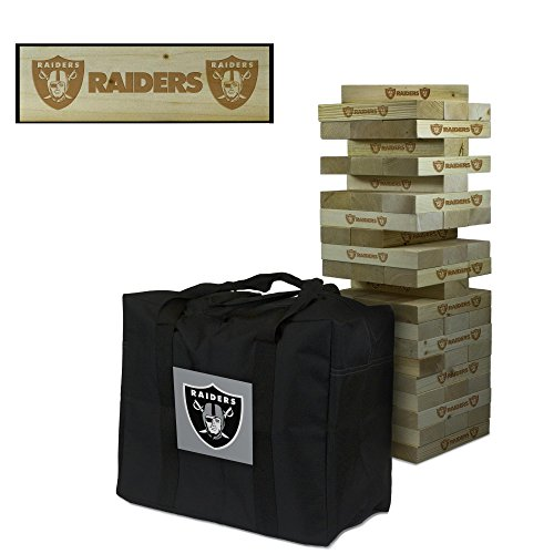 NFL Oakland Raiders Oakland Football Wooden Tumble Tower Game, Multicolor, One Size by Victory Tailgate