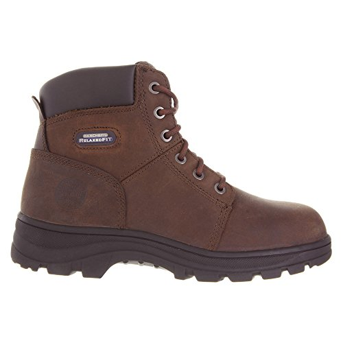 Skechers Work Mens 77009 Workshire Relaxed Fit Work Steel Toe Boot Black
