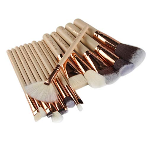 Kaputar 15Pcs Makeup Brushes Set Foundation Powder Eyeshadow Eyeliner Lip Brush Set Tool | Model MKPBRSH - 1803 | 15PCS Gold #4