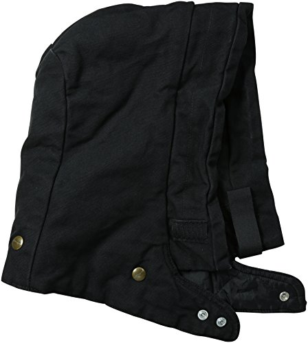 Carhartt Men's Arctic Quilt Lined Sandstone Hood, Black, Small-X-Large (Quilt Lined Sandstone)