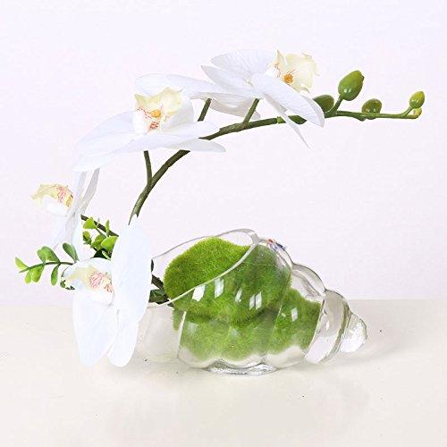 Decorative Artificial Flowers Purple orchid black glass vase Bridal Accessories Arts Crafts Home Garden Decoration XHOPOS HOME](Black Orchid Bouquet)