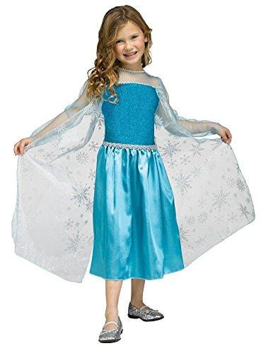 Halloween Frozen Costumes - Girls Disney Frozen Elsa Inspired Ice Queen Halloween Costume (Toddler (3T-4T))