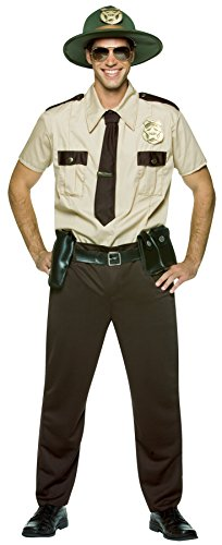 Rasta Imposta Men's State Trooper Outfit Funny Theme Fancy Dress Halloween Costume, OS (48-52)