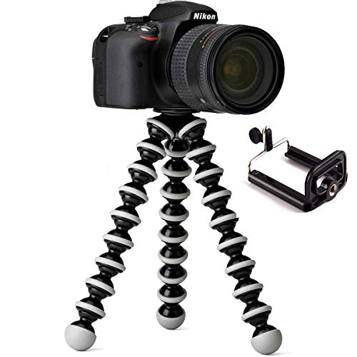 OSSUM  Gorilla Tripod/Mini Tripod 13 inch for Mobile Phone with Holder for Mobile, Flexible Gorilla Stand for DSLR & Action Cameras