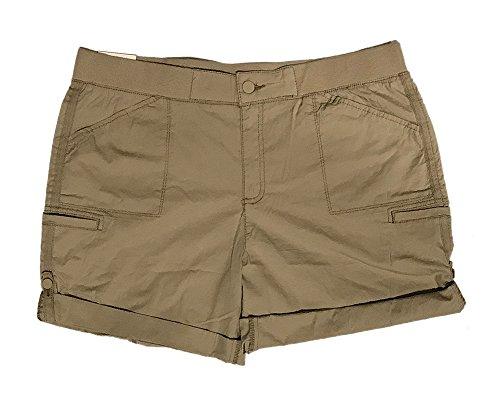 3695d1d162 Khakis & Company Womens Classic Roll Tab Flat Front Shorts (14, Classic  Khaki)