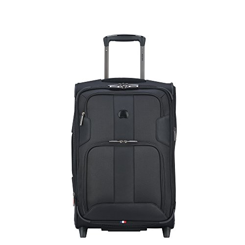 Delsey Paris Luggage Sky Max Carry On Expandable 2 Wheeled Suitcase, Black (Delsey Luggage International)