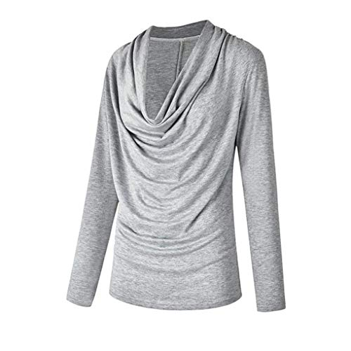 Gris Femme Col Top Chemisier Solid V DAYLIN Dcontract Courtes Manches pwqCazz