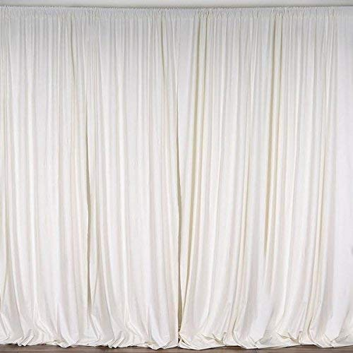Co Pipe - AK TRADING CO. 10 feet x 10 feet Polyester Backdrop Drapes Curtains Panels with Rod Pockets - Wedding Ceremony Party Home Window Decorations - Ivory