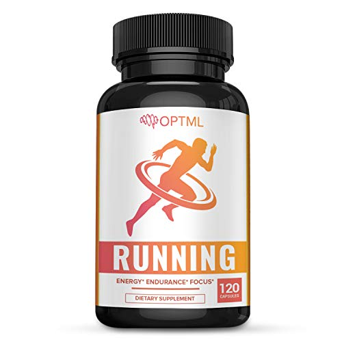 OPTML Running Performance Supplement | Boosts Energy | Increased Endurance | Enhanced Focus | Reduced Stress | Run Longer and Faster (120 Capsules)