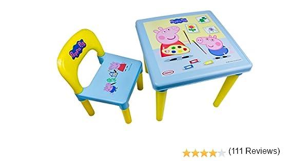 Peppa Pig DARP-CPEP016 - Juego de Mesa y Silla (30 Piezas): Amazon.es: Juguetes y juegos