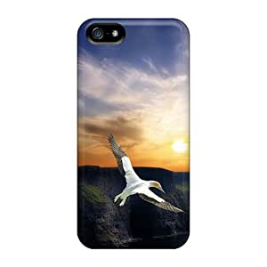 Iphone 5/5s Case Cover - Slim Fit Tpu Protector Shock Absorbent Case (wing Flight)