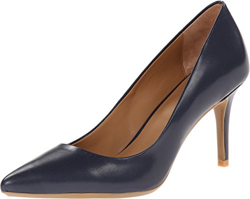 Calvin Klein Women's Gayle Pump, Navy Leather - 8 B(M) US