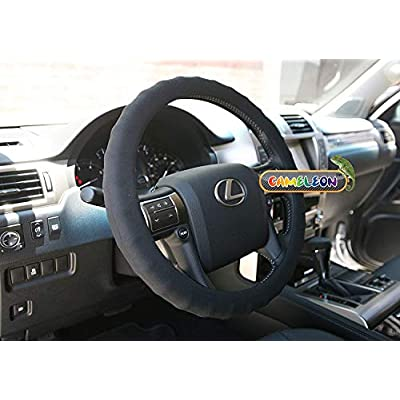 New Silicone Black Steering Wheel Cover- Racing Power Grip-ergonomic Handling (Black): Automotive