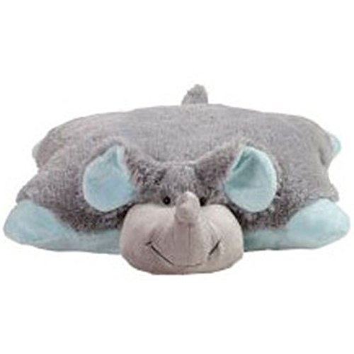 Large Animal Pillow : Large Pillow Pets Nutty Elephant Stuffed Animal Toy (Grey and Blue) New eBay