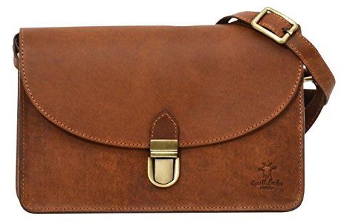 """Gusti Cuir studio """"Zoey"""" sac à main sac à bandoulière sac pour sortir sac de loisirs femme cuir de vachette marron clair 2H54-33-1"""