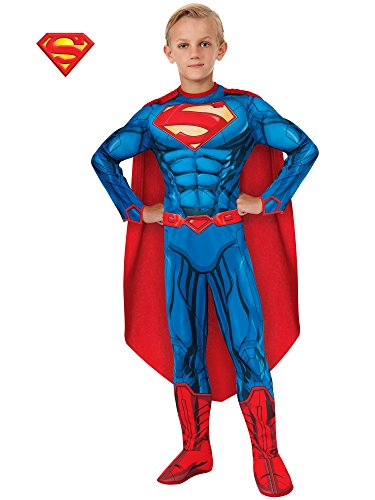 (Rubies DC Comics Deluxe Muscle-Chest Superman Costume, Small)