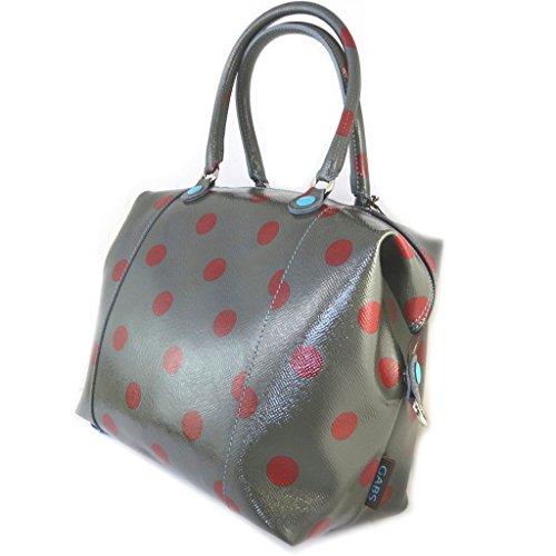 3 en 1 bolso de cuero de laca 'Gabs'topo (guisantes)(l)- 43x37x2.5 cm.