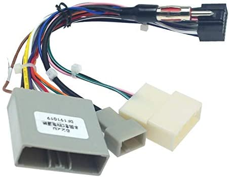 amazon.com: feeldo car multimedia 16pin wiring connector with radio antenna  adapter for honda civic crv 2006~2009 power wire: electronics  amazon