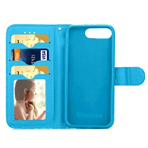 Funda Libro para iPhone 7 Plus,Manyip Suave PU Leather Cuero Con Flip Cover, Cierre Magnético, Función de Soporte,Billetera Case con Tapa para Tarjetas, Funda iPhone 7 Plus B