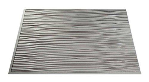 Fasade Easy Installation Waves Argent Silver Backsplash Panel for Kitchen and Bathrooms (18