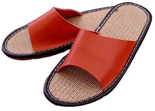 Pantofole Da Donna In Blusa Da Donna Estate In Lino Pantofole Da Donna Arancione