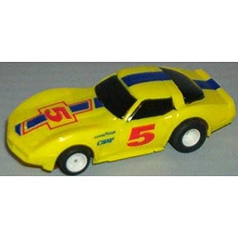 TYCO HO Scale 440x2 1978 Yellow corvette Slot Car 15040B - Tyco Corvette