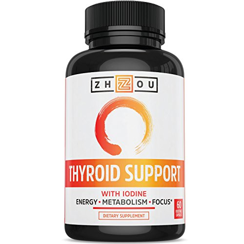 Thyroid Support Complex With Iodine - Energy, Metabolism & Focus Formula - Vegetarian, Soy & Gluten Free - 'Feel Like Your Old Self Again' (Energy Support Formula)