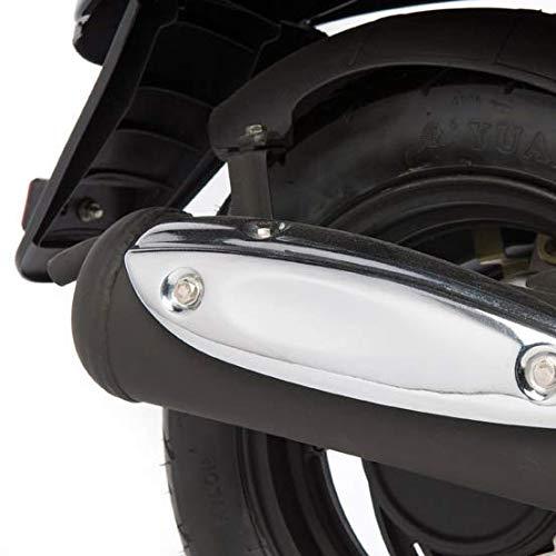 Motorroller GMX 460 Retro Classic 45 km//h schwarz wei/ß sparsames 4 Takt 50ccm Mokick mit Euro 4 Abgasnorm
