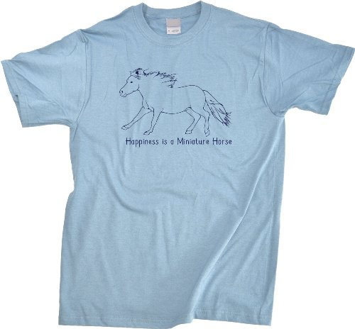 Happiness is a Miniature | Horse Lover Unisex T-shirt Cute Horse Shirt