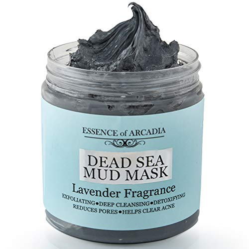 Dead Sea Mineral Mud Mask Scented with Lavender for Face and Body - 100% Natural Minerals - Minimize Pores, Remove Blackheads, Reduce Acne and Wrinkles for Men and Women, a Healthier Complexion 8.8 oz